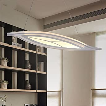 LED lights Pendentif feuille acrylique Cuisine moderne lampe de ...