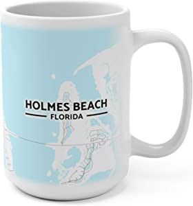 Holmes Beach, Florida Map Mug (15 oz)
