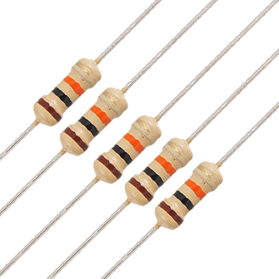100PCS Film Resistors Resistance 10K Ohms OHM 1//4W 5/% Carbon Film Assortment