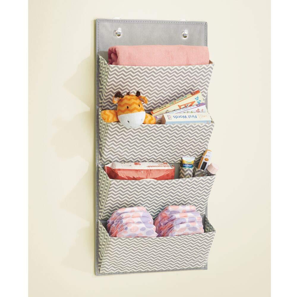 Organizador de ropa color gris oscuro//natural para colgar en su armario Con 4 compartimentos mDesign estanteria colgante para organizar la ropa de bebe