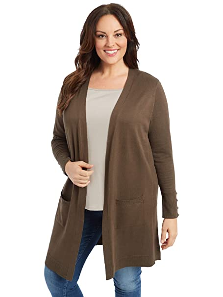 7757510614d 89th + Madison Women's Comfy and Cozy Plus Size Duster Cardigan Sweater