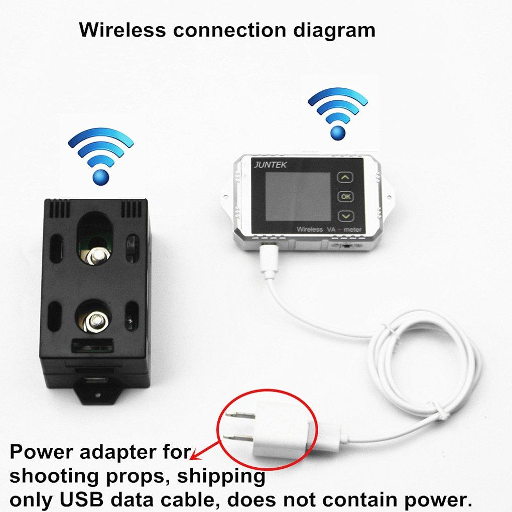Wireless Battery Monitor Voltage Meter Ammeter DC 100V 100A Watt Power Capacity LCD Digital Tester