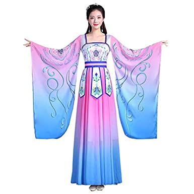 a216df0ba Ez-sofei Women's Ancient Chinese Hanfu Dress Traditional Cosplay Costume  Set (M, E