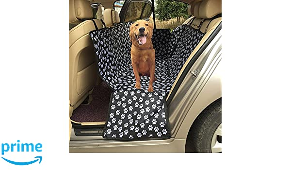 Funda para asiento de perro lenezaro protectora asiento de coche impermeable Funda para de traseros de coche (Tejido impermeable Oxford hamaca coche ...