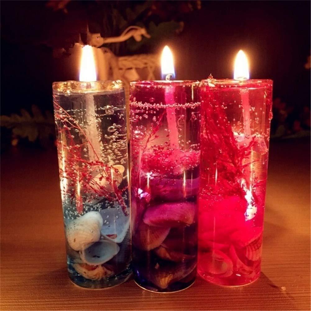 AimdonR Velas de aromaterapia Ocean Theme, gel de cera de gelatina sin humo con botella de vidrio, regalos de navidad: Amazon.es: Hogar
