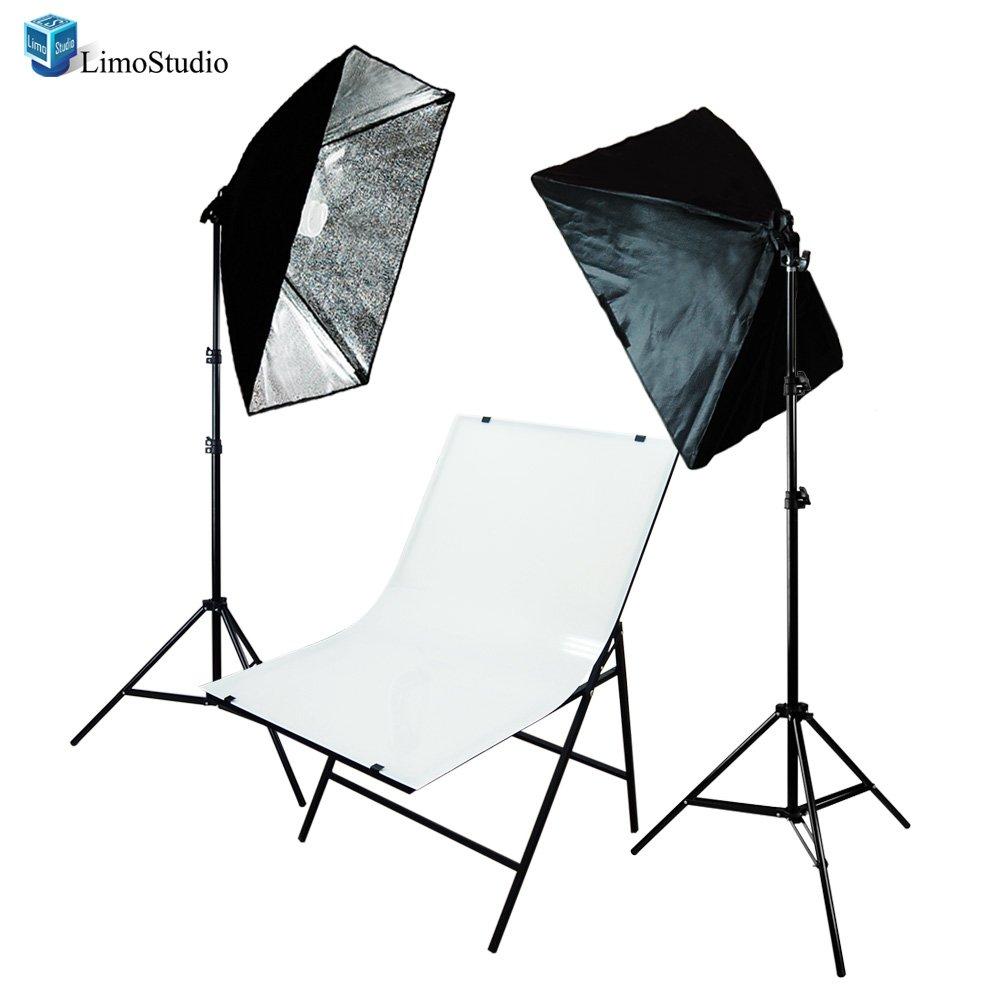 LimoStudio Photography Photo Studio Foldable Shooting Table Background with 2 pcs Softbox Lighting Set, AGG1629