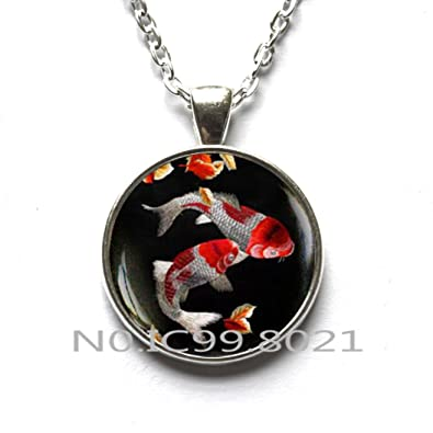 Amazon fashion necklace fashion pendant koi fish necklace fashion necklace fashion pendant koi fish necklace japanese koi fish japanese art pendant aloadofball Image collections