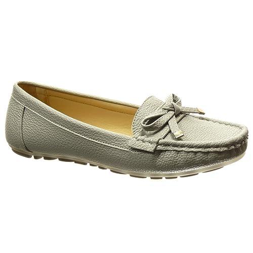 Angkorly - Zapatillas Moda Mocasines Slip-on Mujer Nodo metálico tacón Plano 0 CM: Amazon.es: Zapatos y complementos