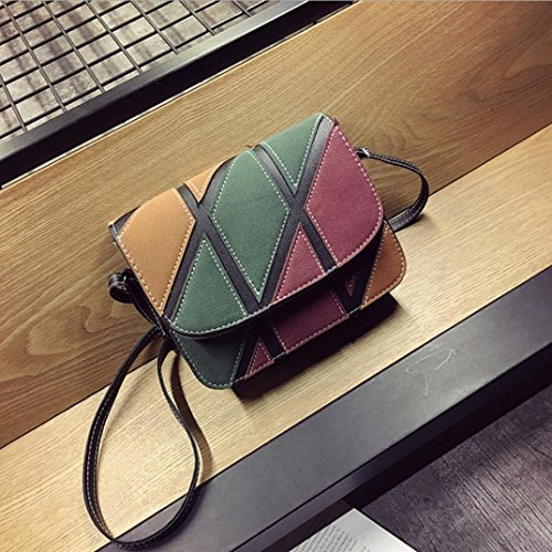 Retro Bag Inkach Womens Shoulder Bags Leather Crossbody Small Black Handbags YqEqR