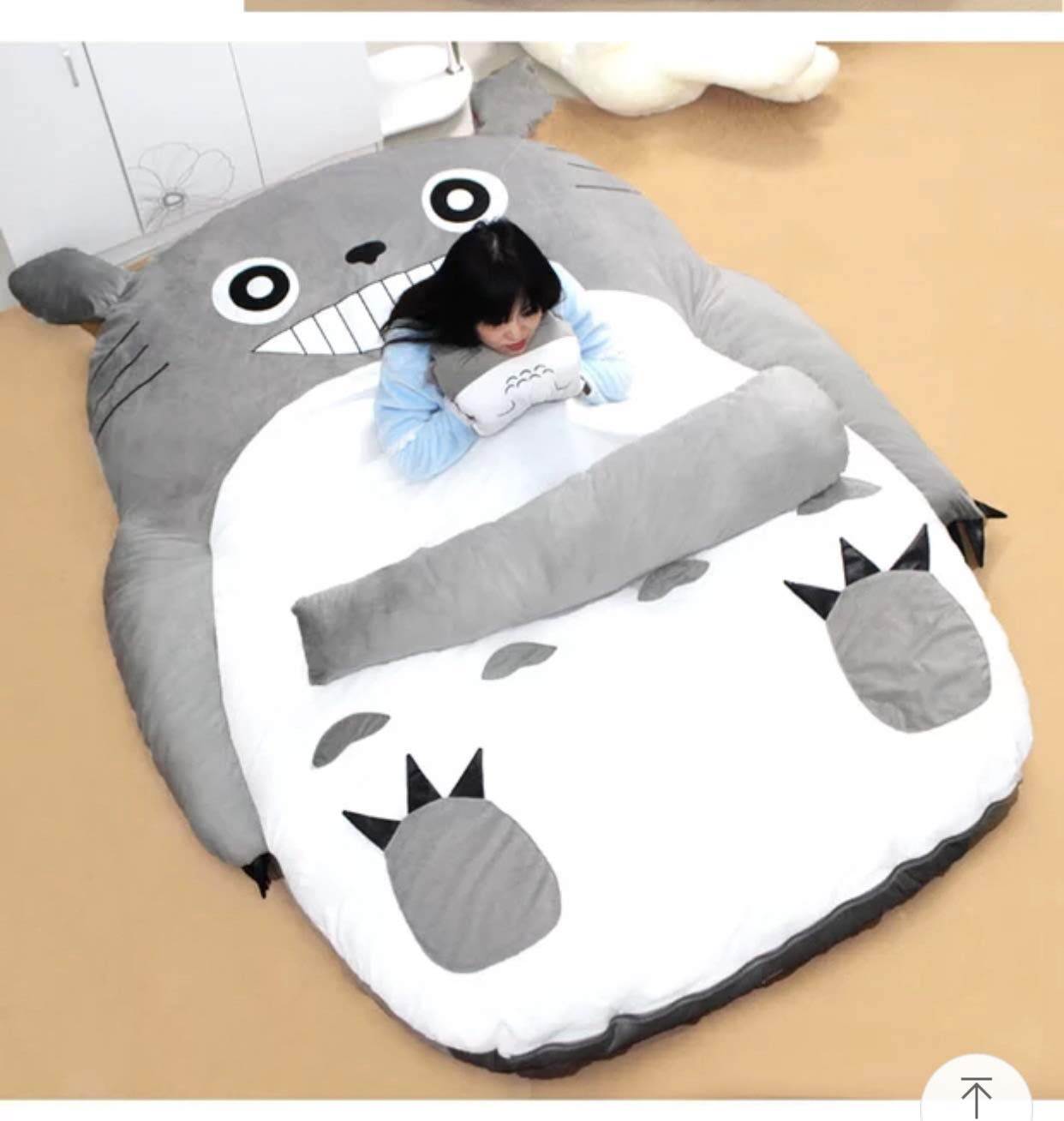 Plush Totoro Sleeping Bag Sofa Bed Double Foam Beanbag Cartoon Mattress Cushion for Kids Tatami Bed Xmas Gift