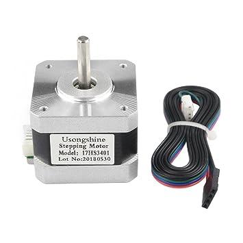 UsongShine - 1 motor paso a paso Nema 17 17HS3401, motor 42 BYGH 1 ...