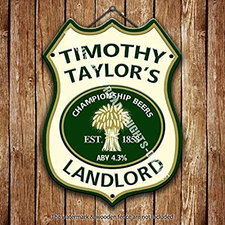 Timothy Taylor Landlord Beer Advertising Bar Old Pub Drink