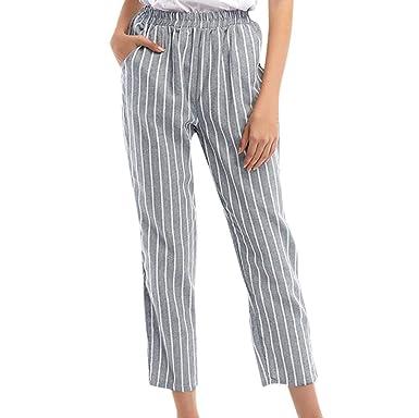 Pantalones Mujer, ASHOP Raya Pantalones Vaqueros Ocio Estilo Jeans ...