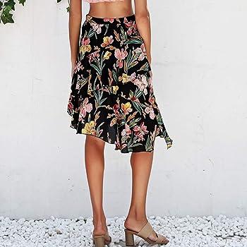 Faldas Mujer Cortas Verano 2019 Elegante PAOLIAN Faldas Fiesta ...