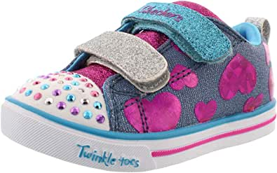 Skechers Kids Girls' Sparkle LITE-Flutter FAB Sneaker
