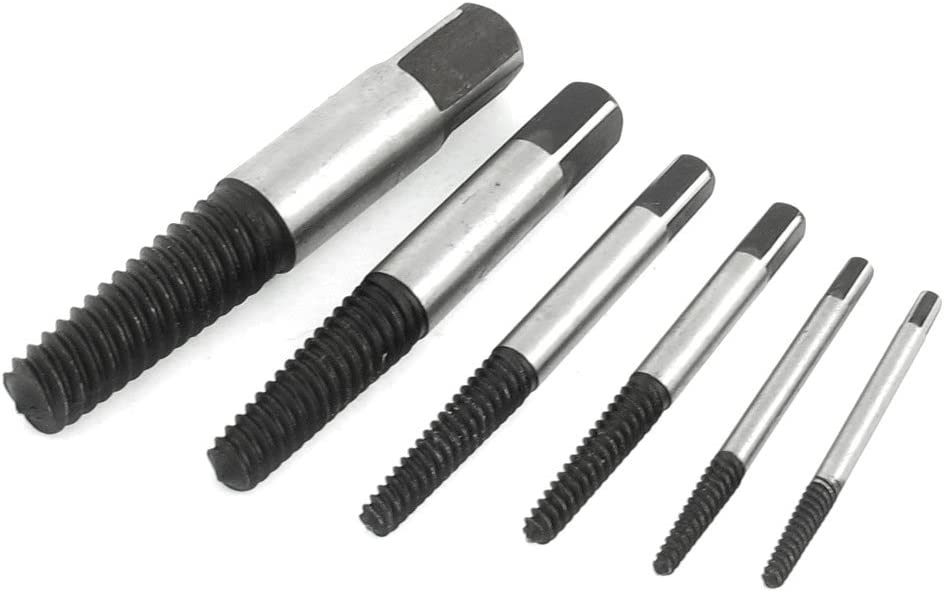 Aexit 6 Pcs Nuts Hardware Tool Screw Bolt Nut Extractors Panel Nuts Removers Kit