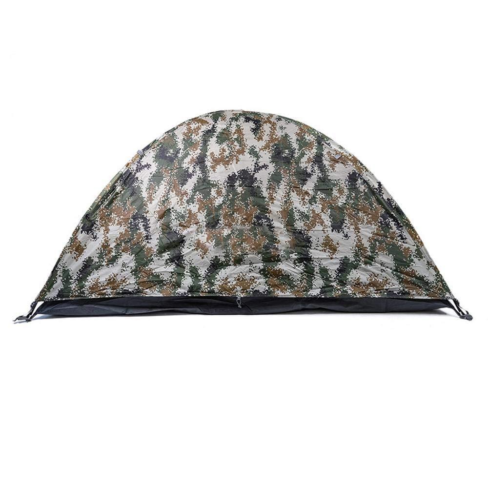Lxj Outdoor-Zelt Camping Outdoor Camouflage Zelt Camping liefert Thermische wasserdicht Doppelte Tür Tarnzelt