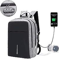 Balso de Viaje, Mochila portátil Backpack para Laptop con USB Puerto de carga y de audífonos para mujeres y hombres, Lock y compartimiento de auricular para Tableta Ipad de hasta 15-16 pulgadas para Excursionismo al Aire Libre Viaje de Camping (Gris)