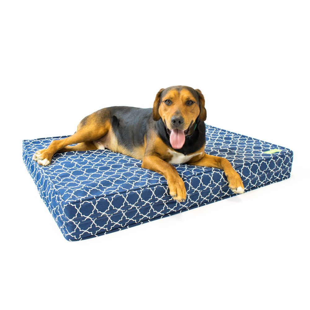 bluee Medallion Large (92 cm x 114 cm) bluee Medallion Large (92 cm x 114 cm) eLuxurySupply Orthopedic Dog Bed 12 cm Thick   Supportive Gel Memory Foam Made in the USA   100% Cotton Removable Cover w Waterproof Encasement   Fully Washable   Small, Medium