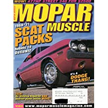 Mopar Muscle November 2002 Magazine 1968-1971 SCAT PACKS REBELS TO OUTLAWS! IT'S A DODGE THANG! Tech! No Welding Required Quarter-Panel Install