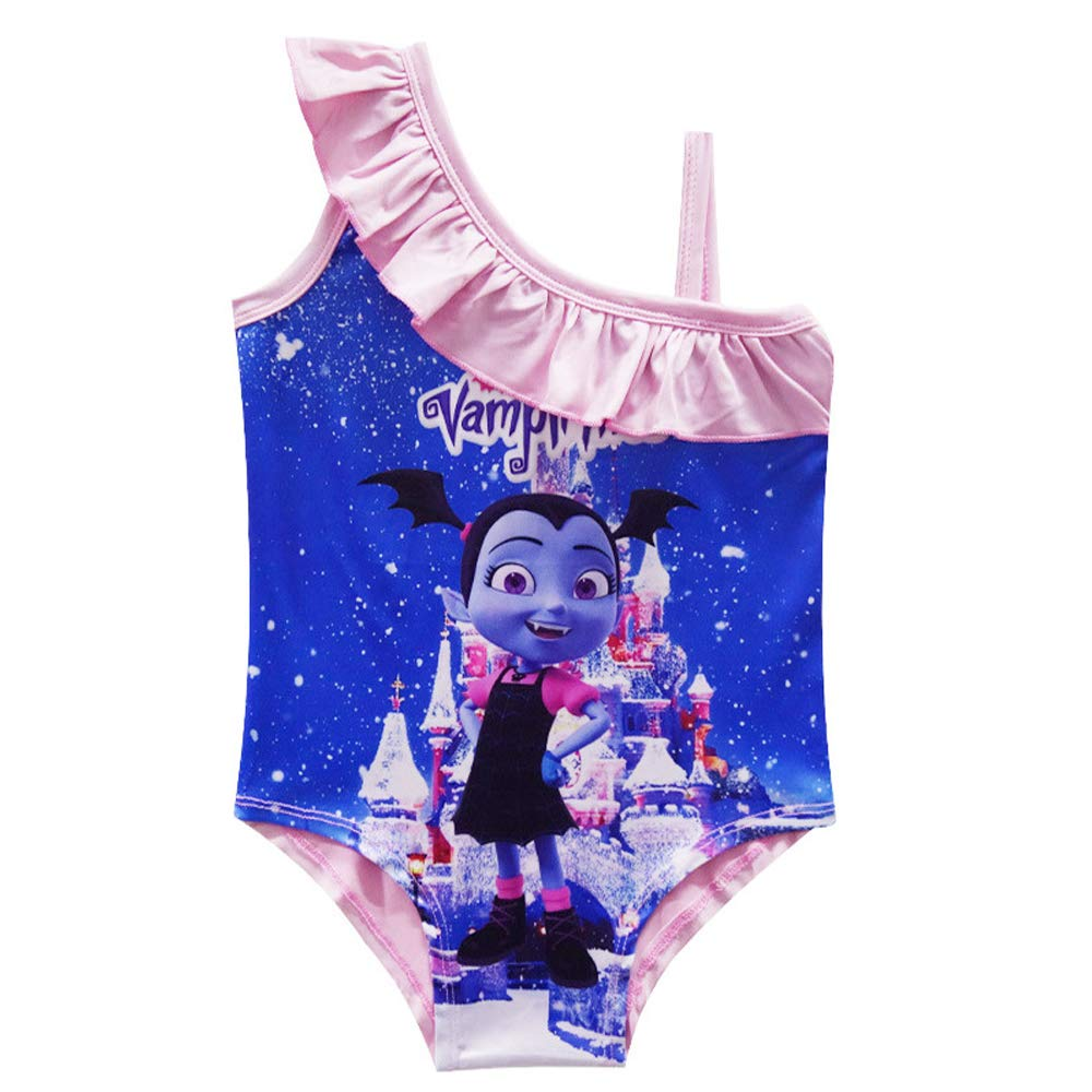 MERLI Vampirina Girls Cute Bathing One Piece Swimsuit Swimwear
