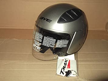 Casco Jet Moto Original Yamaha Bye Super Sonic T-MAX Color Silver Tech- TG