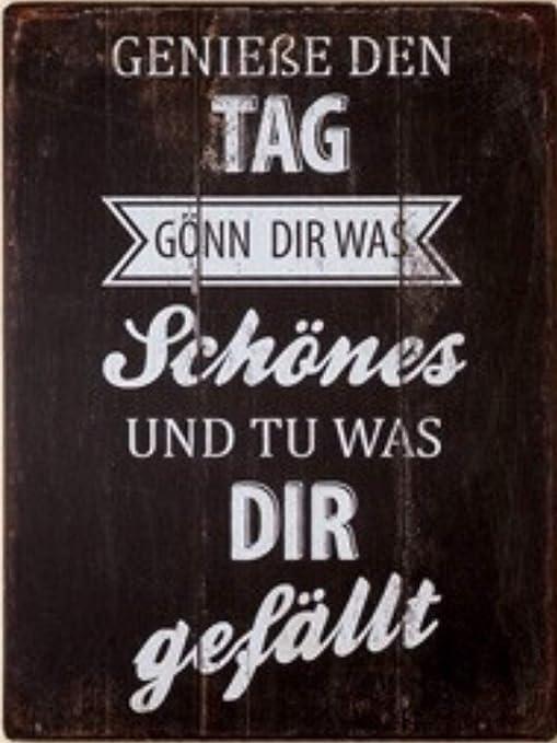 G.H. Cartel de Chapa Vintage Retro con Texto en alemán: Gön ...