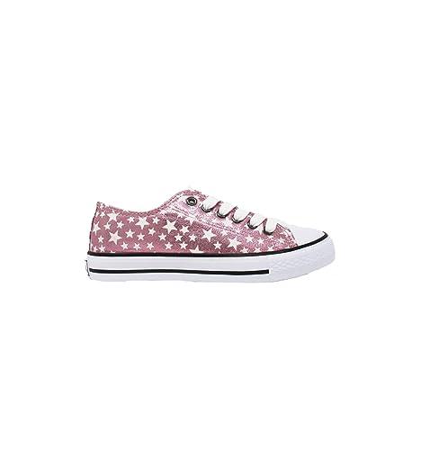 Conguitos - Lona Metalizada Rosa con Estrellas - Rosa, 38: Amazon.es: Zapatos y complementos