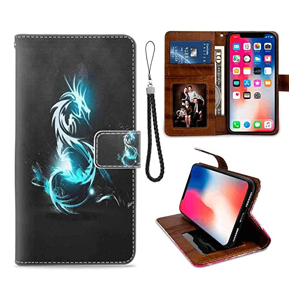 Amazon Com Wallet Case For Iphone Xr 2018 6 1in Dragon