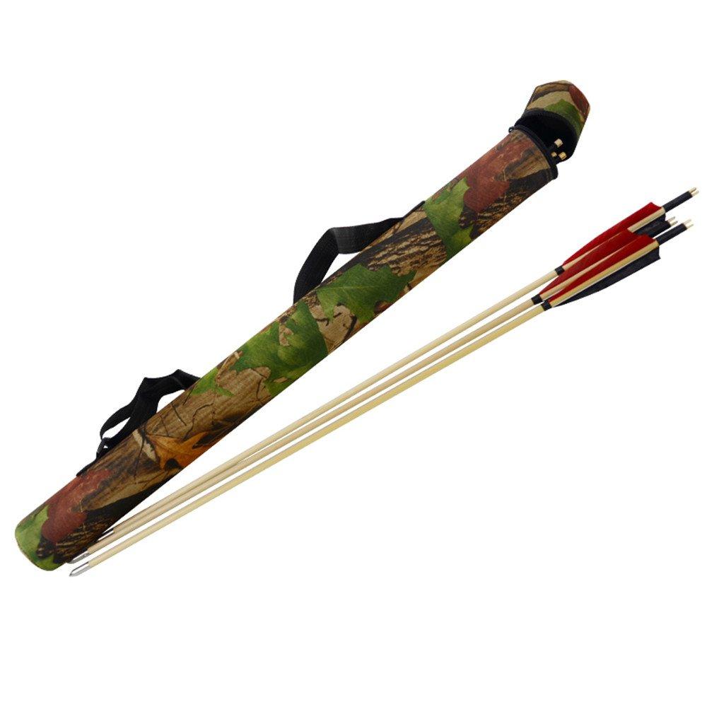 Tiro con arco flechas carcaj tubo de caza arco compuesto flechas soporte Tongtu Outdoor