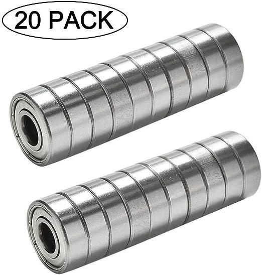 CESHUMD 608 ZZ - Rodamientos de Bolas (20 Unidades, Metal, Doble ...