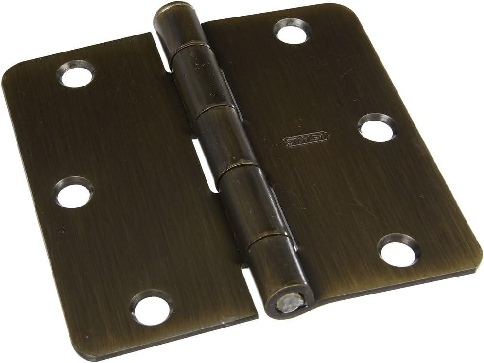 2 piece 3-1//2 National Hardware S808-170 V8030 Door Hinges in Antique Brass