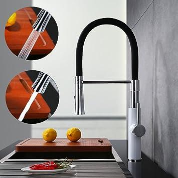 homelody 360° drebar hoher auslauf küchenarmatur schwarz armatur ... - Mischbatterie Küche Schwarz