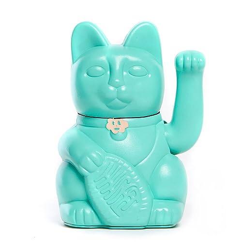 10x6x15cm. MALVA: Riqueza y prosperidad El cl/ásico Gato de la Suerte o la Fortuna o Maneki-Neko en divertidos colores Gatete