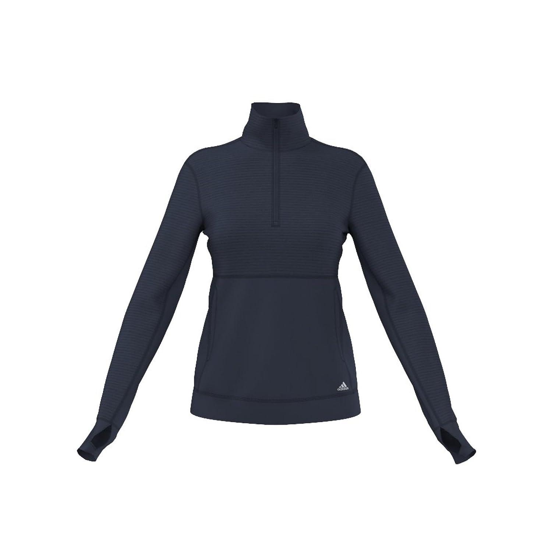 Collegiate Navy Matte Silver adidas Women's Limitless 1 2 Zip Long Sleeve Shirt