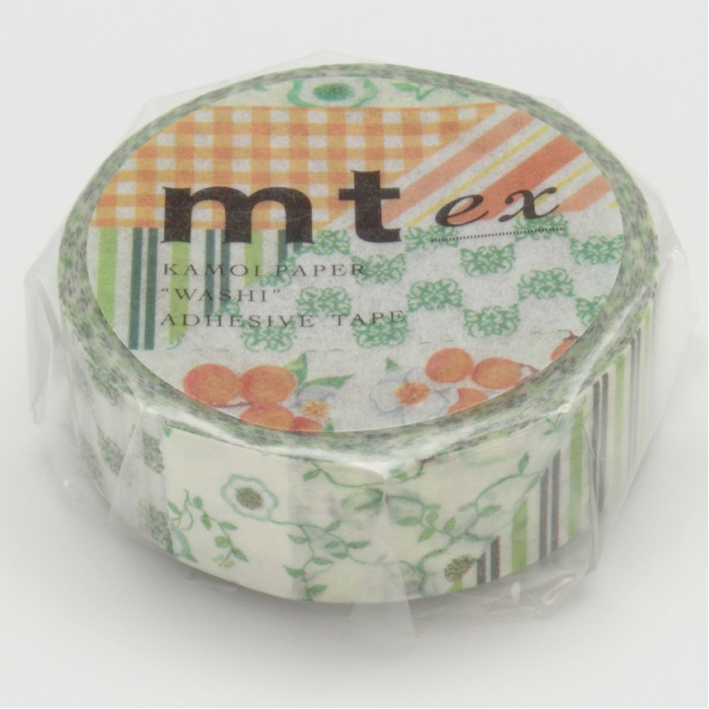 Mt Washi Masking Tape Ex Flower Green (MTEX1P32)