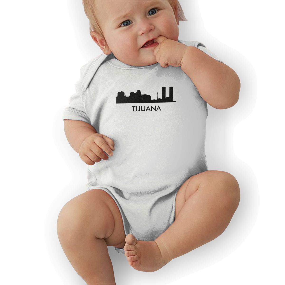 Tijuana City Skylines Silhouettes Baby Romper 0-18 Months Newborn Baby Girls Boys Layette Rompers White
