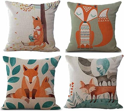 Deelin 4pc Tricote Taies D Oreiller Motifs Geometriques Florales Lin Housse De Coussin Canape Decor A La Maison Amovible Et Lavable