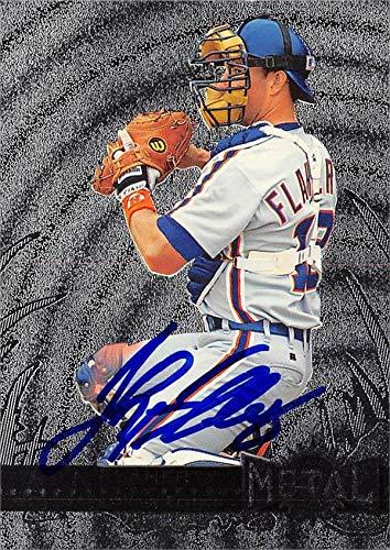 John Flaherty autographed Baseball Card (Detroit Tigers, SC) 1996 Skybox Metal Universe #58 - MLB Autographed Baseball Cards ()