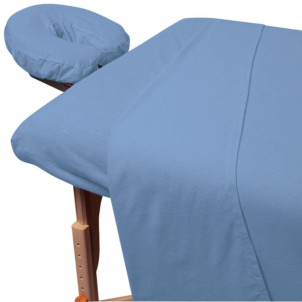ForPro Premium Flannel Sheet 3-Piece Set Ocean Blue