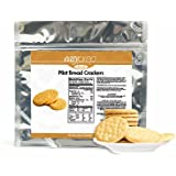 EasyPREP Pilot Bread Crackers - Pouch, 25 Servings/Pouch In Resealable Food-Grade Mylar Pouch, 25 Year Shelf-Life, (1-Pack)