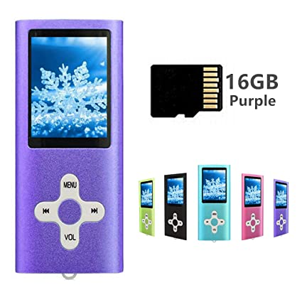 Reproductor de MP3 con Tarjeta Micro SD de 16 GB, Color ...