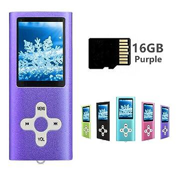 Reproductor de MP3 con Tarjeta Micro SD de 16 GB, Color ...