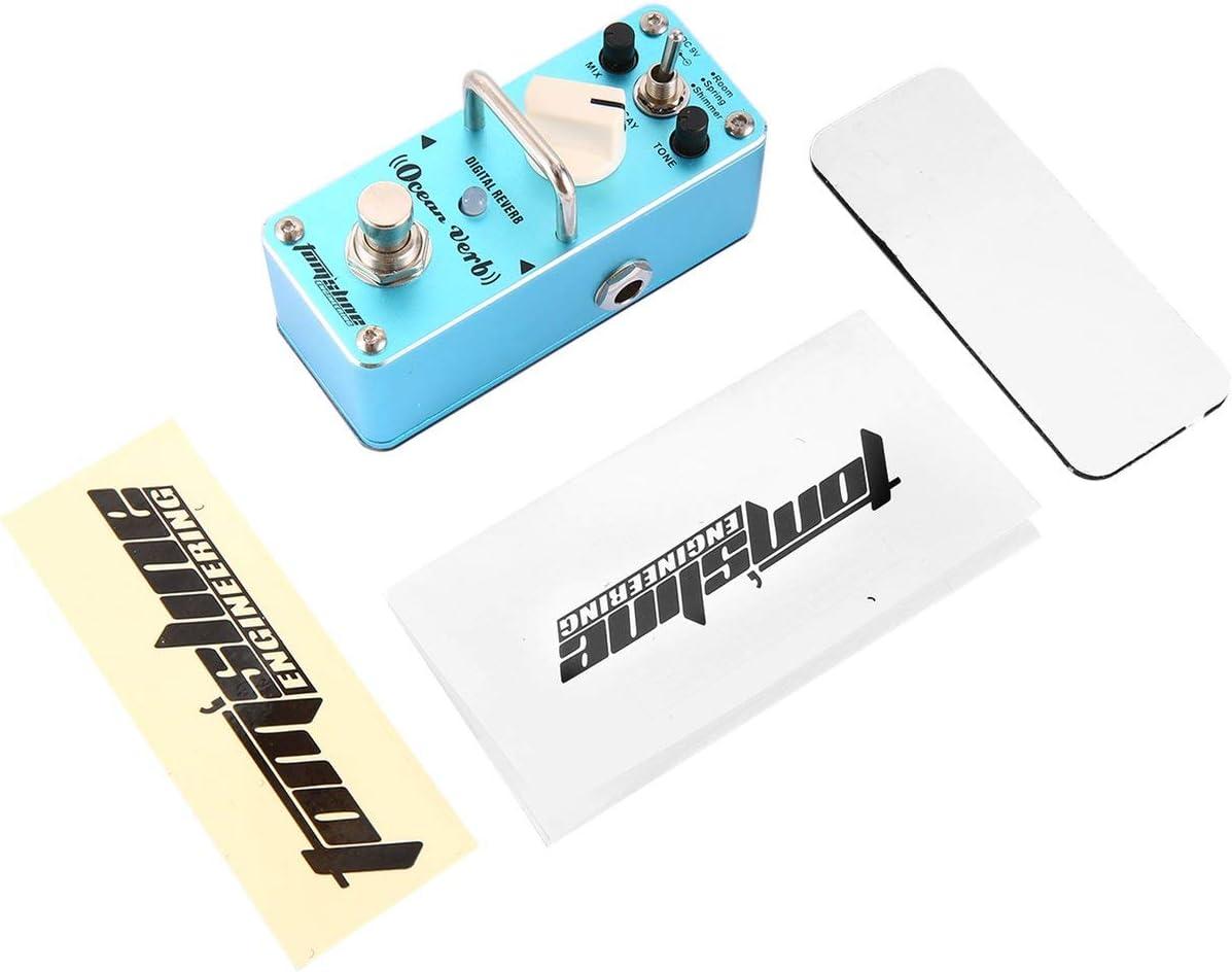 Ballylelly Aroma AOV-3 Ocean Verb Digital Reverb Pedal de Efecto de Guitarra eléctrica Ecualizador de Guitarra Bypass Verdadero Guitarra Individual Accesorios