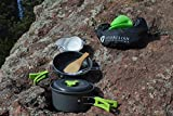 CAMPING-COOKWARE-MESS-KIT-Most-Complete-lightweight-equipment-set-for-any-camp-hiking-trips-Free-bonuses-included-60-days-guarantee-Backpacker-cooking-gear-pots-and-pans-cook-set
