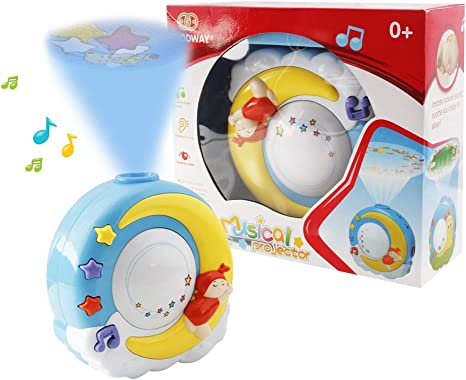 Juguete musical móvil cuna de bebé, giratorio, con estrellas ...