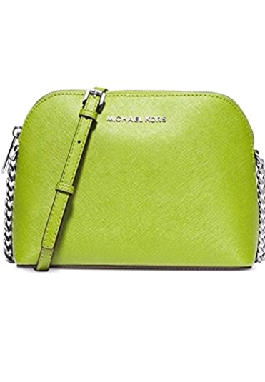 849d8db2b879 Image Unavailable. Image not available for. Color  Michael Kors Cindy Large  Dome Leather Crossbody Pear