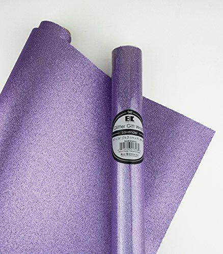 Glitter Gift Wrap- 2 Rolls- Lavender by Best Creation