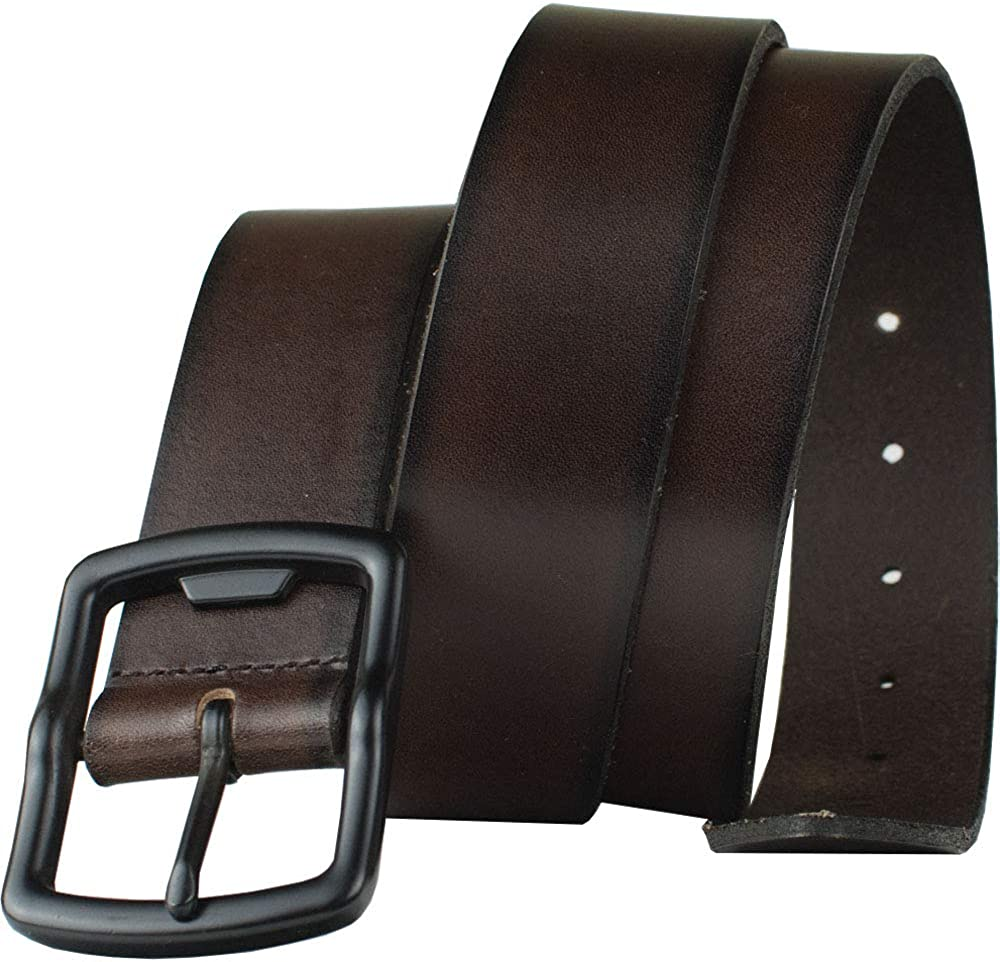 Top Grain Leather Belt with Nickel Free Bottle Opener Buckle Cold Mountain Brown Belt Nickel Smart