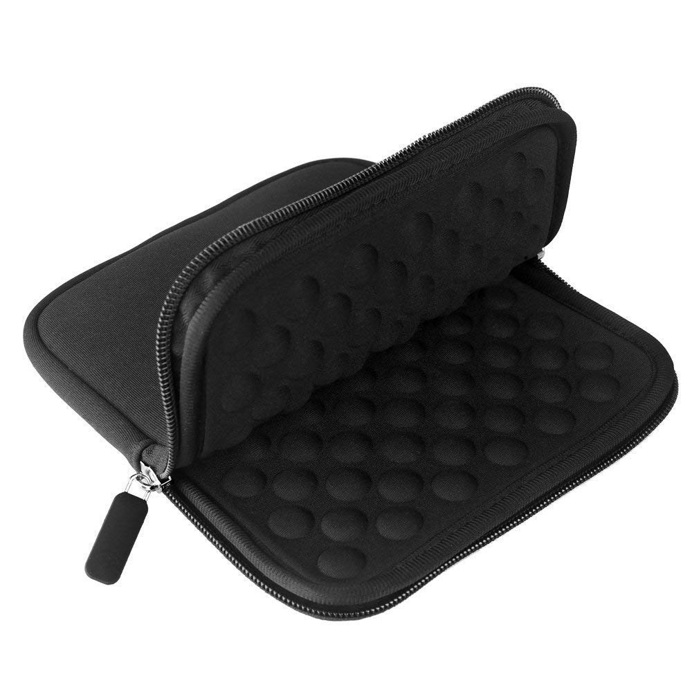 YAHEY External USB CD DVD Drive Protective Sleeve Shockproof Neoprene Carrying Sleeve Case Storage Pouch Bag with Extra Pocket Design for External Blu-Ray Drive Disc Player Hard Drive (Black) by YAHEY (Image #2)